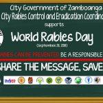Tarpaulin for September 28 World Rabies Day